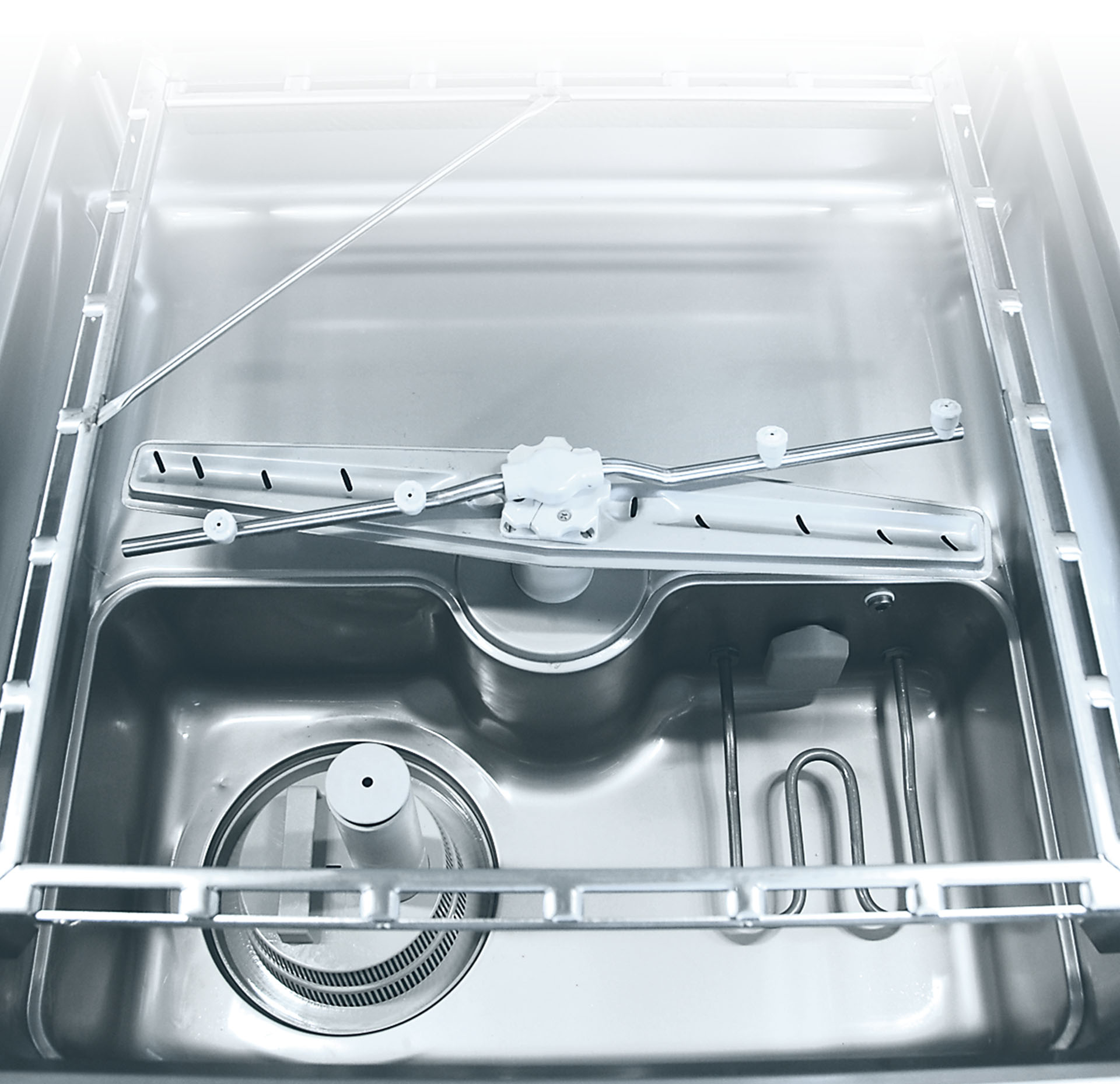 Pass through dishwasher UPster H wash chamber