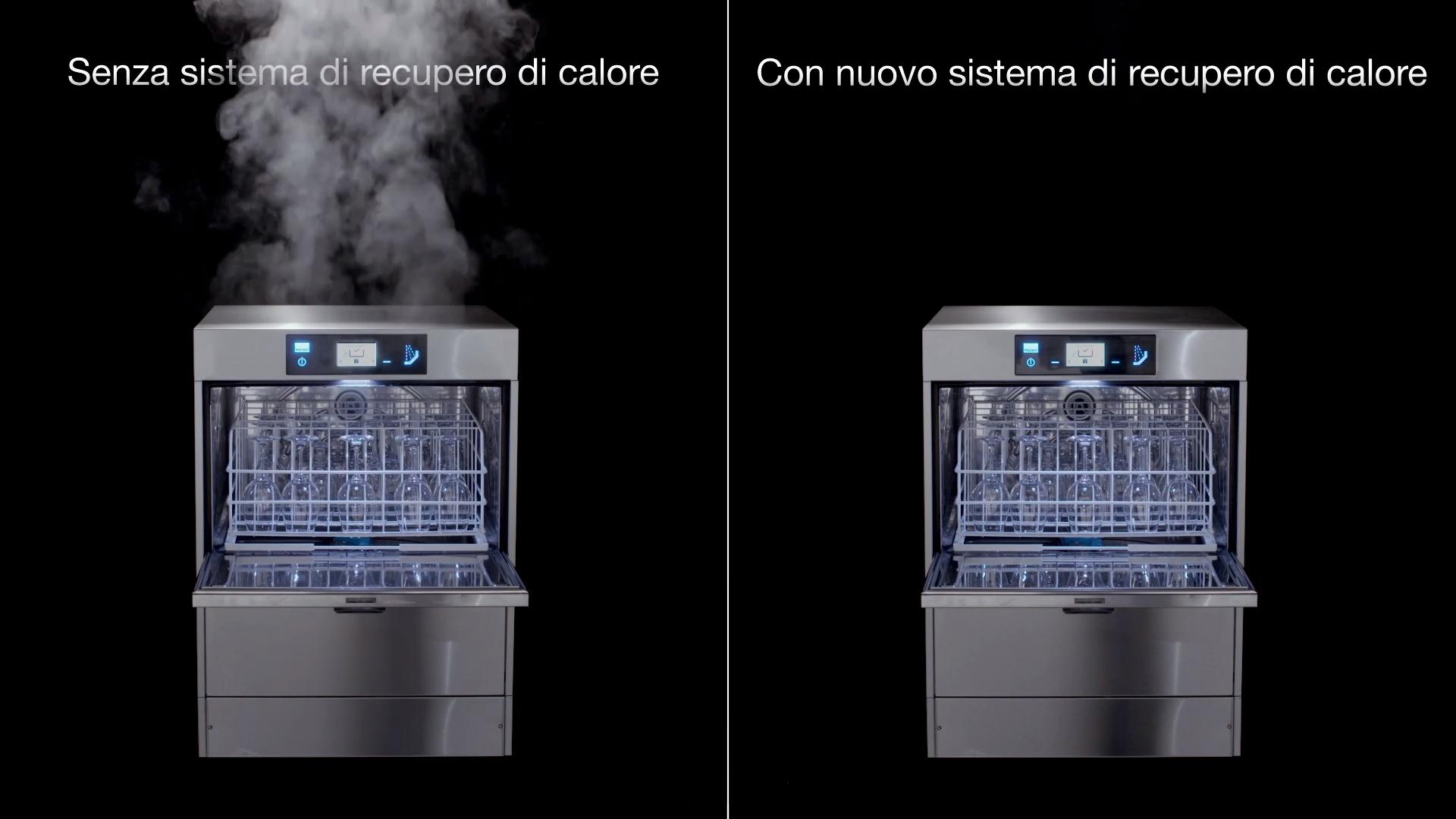 Reduktion von Dampf mit der M-iClean U
