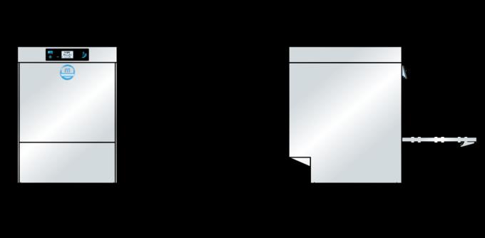 Gläserspülmaschine M-iClean Massbild
