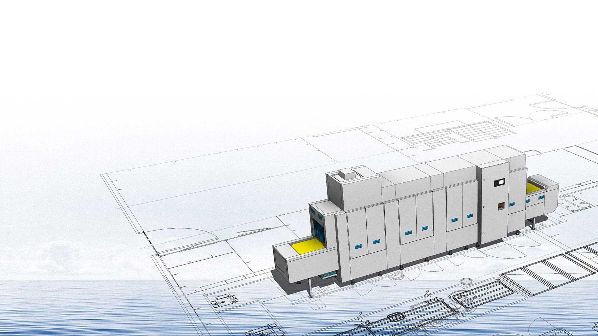 M-iQ Spülmaschine Installation auf Schiff