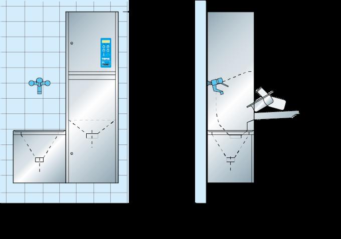 Dimensión del maquinas de limpieza TOPIC