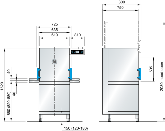 commercial kitchen dishwasher M-iClean