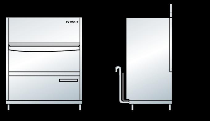 Wymiary zmywarki FV 250.2