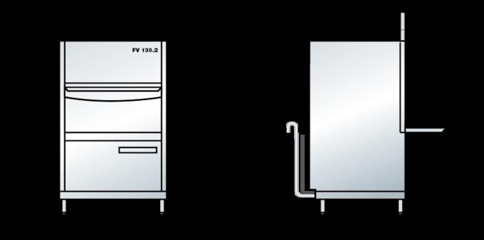 Wymiary zmywarki FV 130.2
