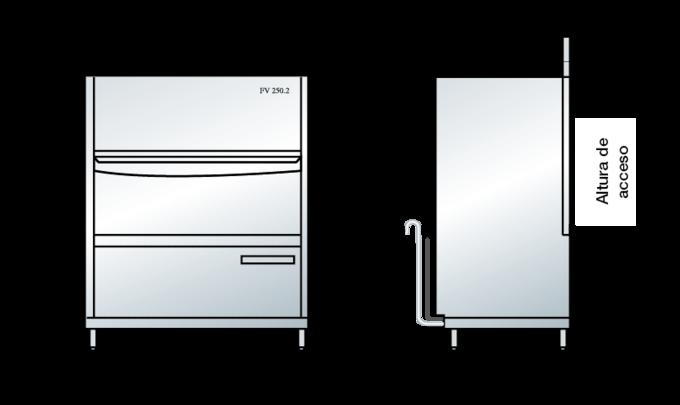 Dimensiones del FV 250.2