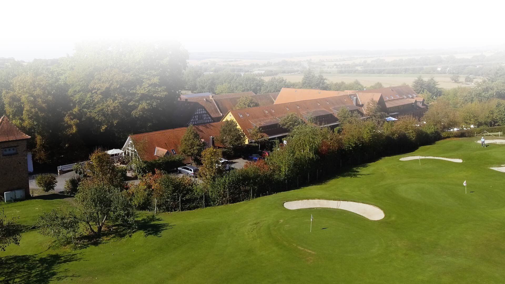 Gut Hühnerhof Luftbild Golfplatz