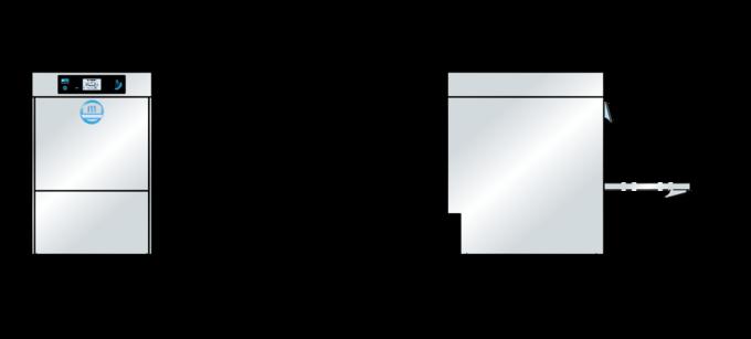 Gastro Spülmaschine M-iClean Massbild