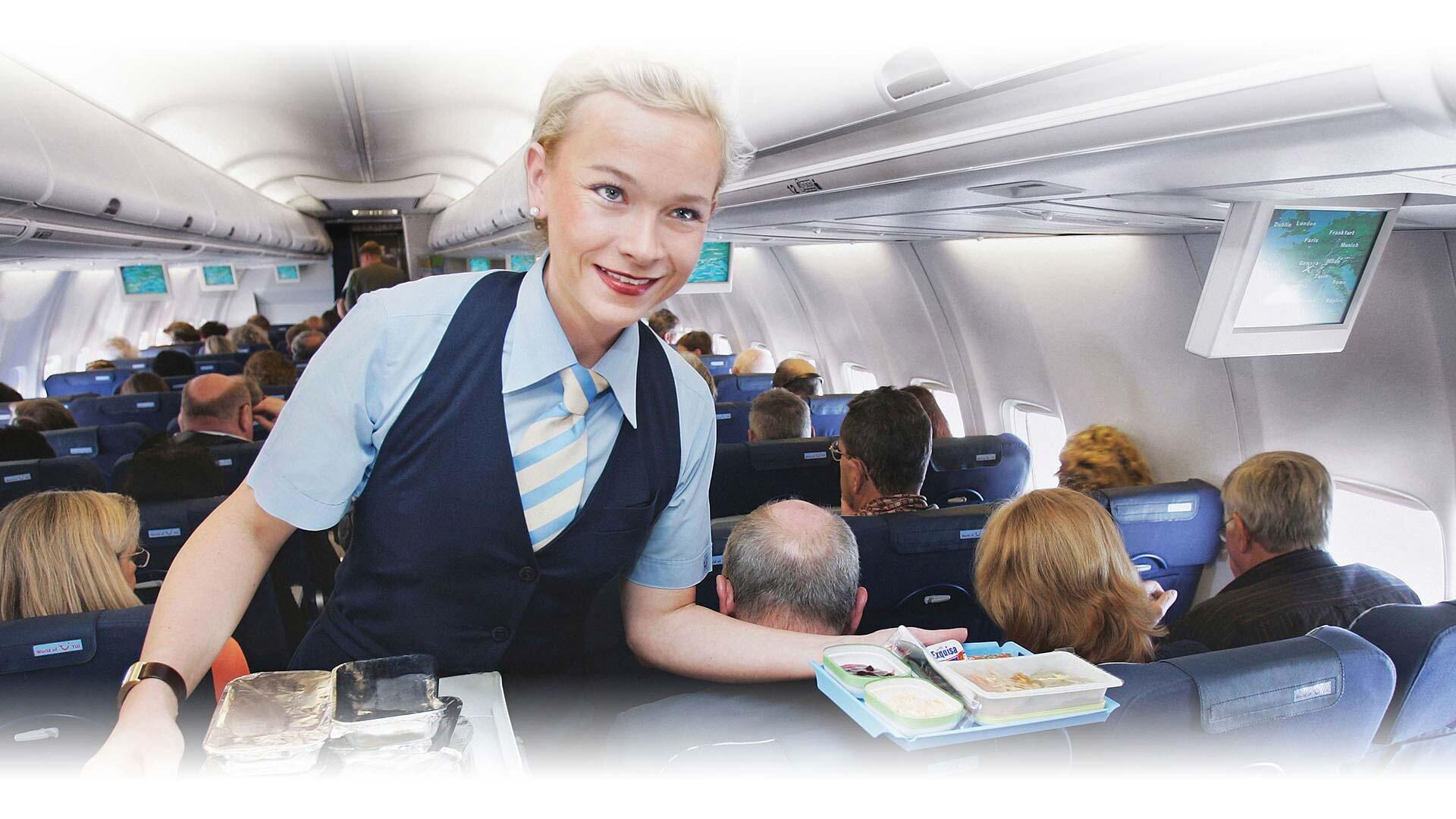Essensausgabe Flugzeug