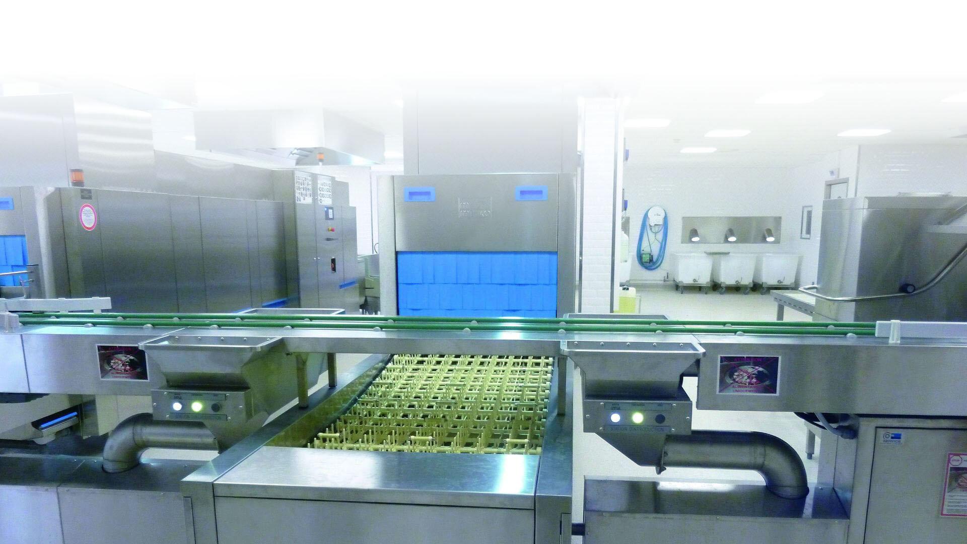 Spülküche im Ecole Polytechnique