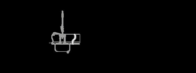 Massblatt gewerbliche Spülmaschine UPster K