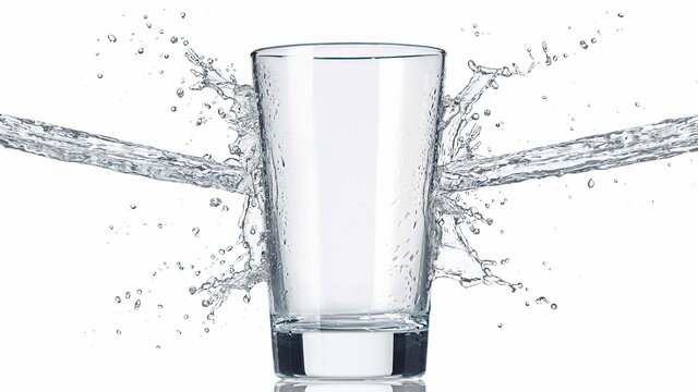 water glass splash