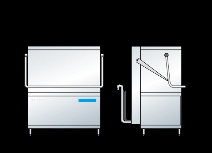 Dimensions du lave-batterie professionnel