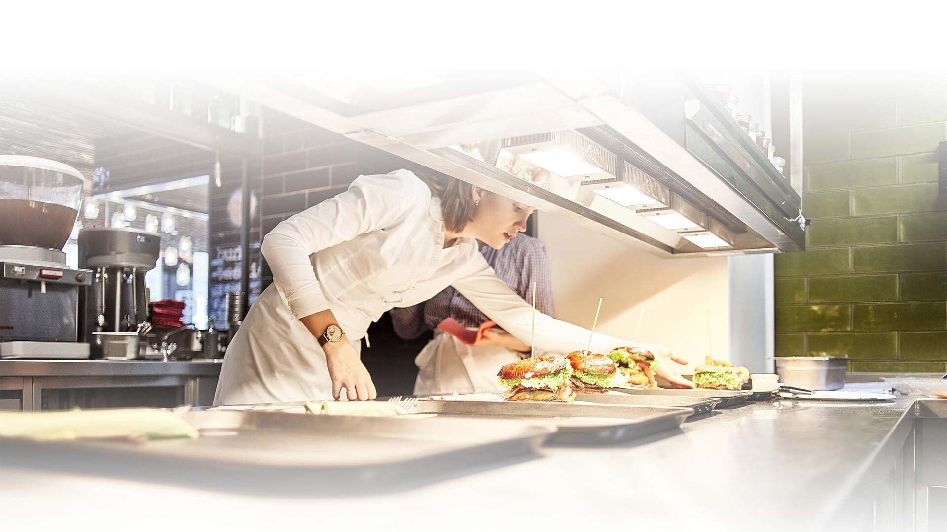 Kitchen work gastronomy