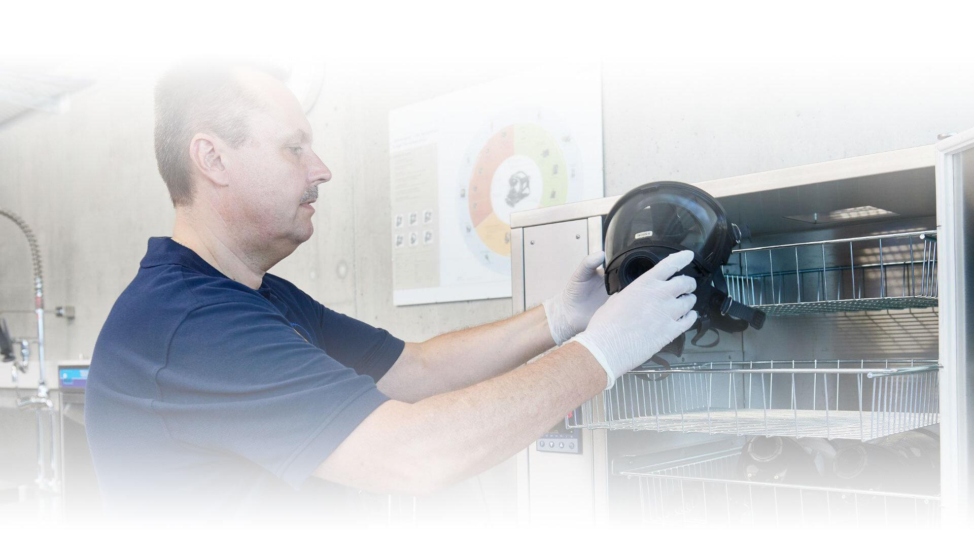 Protección respiratoria del segmento TopClean
