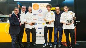 Next Chef 2018 Marianus von Hörsten (3.v.r.) gewinnt Gourmetreise durch Europa