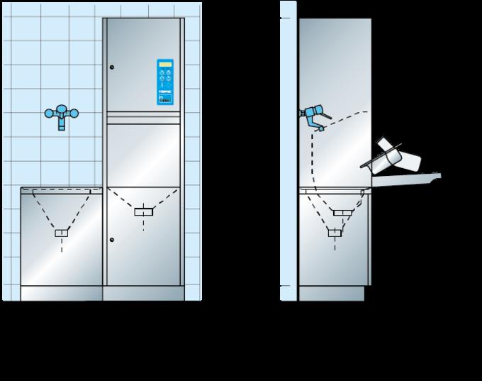 maquinas de limpieza dimensiones TOPIC