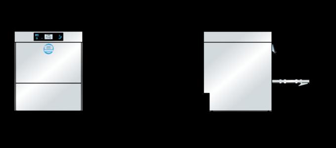 Massbild Bistrospülmaschine M-iClean