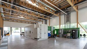 Inside the grid-supportive, zero-energy building Source: BRAXart photography, Neuried