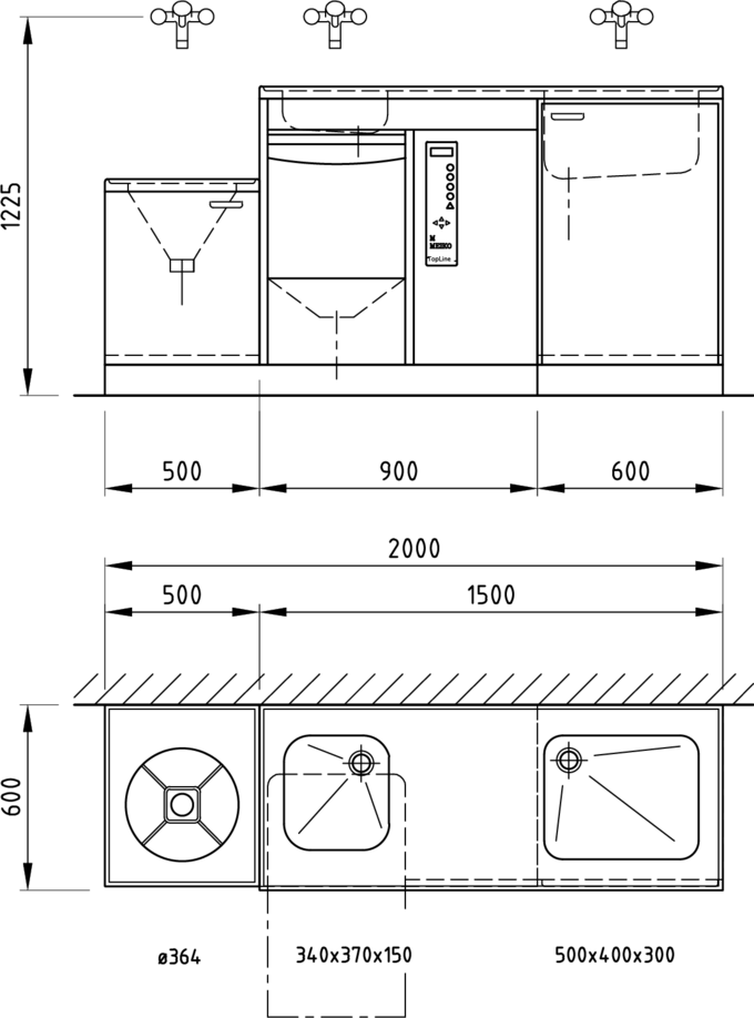 Steckbeckenspüler TopLine40 SAN