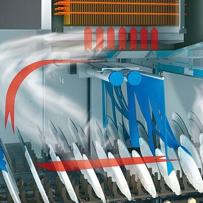 pass through dishwashing machine M-iQ GreenEye