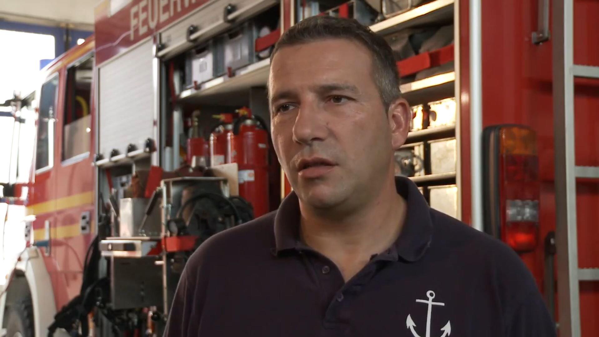 Erleichterung Feuerwehr