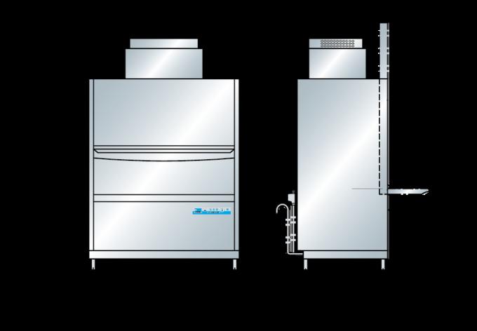 Universalspülmaschine FV 250.2 Massbild